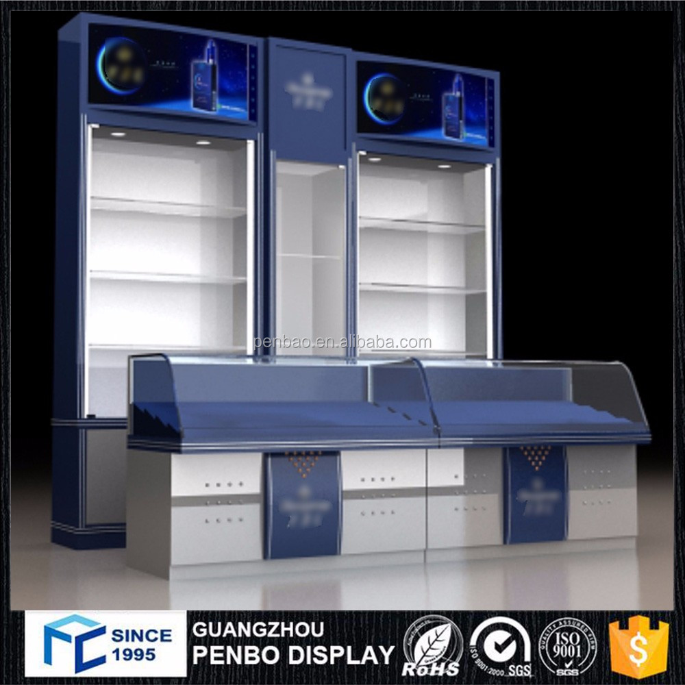 Guangzhou manufacture electronic cigarette showcase, cigarette display cabinet for display