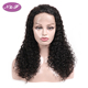 Brazilian virgin human hair lace front wig with baby hair, factory price hand made full lace wig curly hair