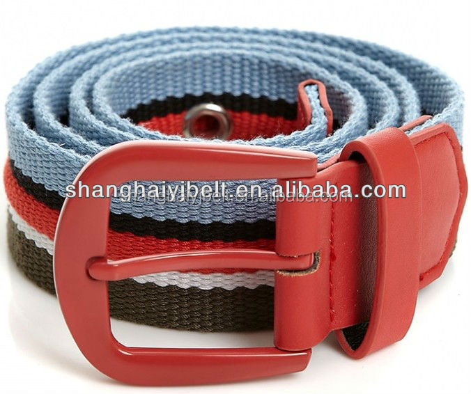stripe man's canvas polyester webbing belt YJ-HY0259