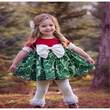Short sleeve ribbonbow smocked top white ruffle pants bulk wholesale kids girls clothing