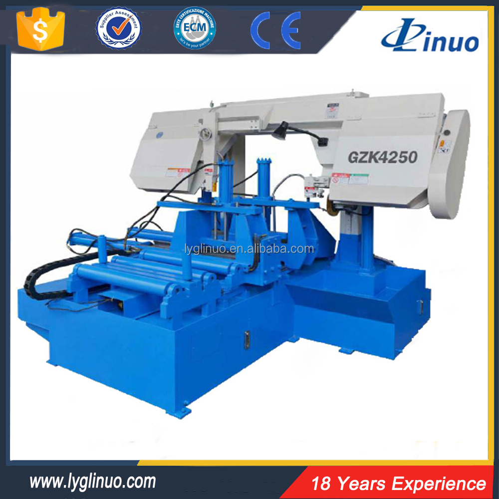 Cnc controller automatic metal GZK4250 band saw machine