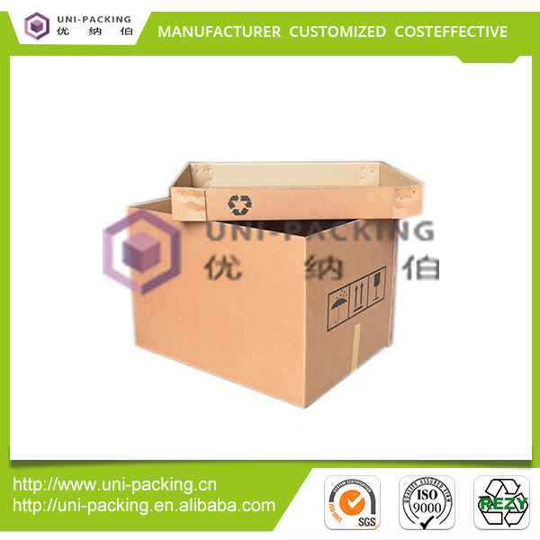 Safety ensured recyclable scrap paper corrugated shipping box
