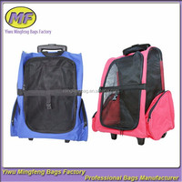 pet dog carrier bag on wheels easy to carry 2colors CWB001