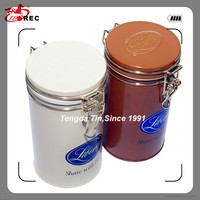 Hot sale tin container with handle for cookies biscuit packaging