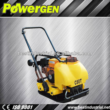 Best Sale!!! Powergen Reliable Construction Machinery Forward 5.5hp Construction Plate Compactor with Water Tank