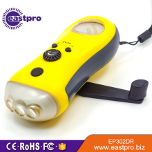 EASTPRO EP302DR flywheel FM radio 3 led hand crank torch light