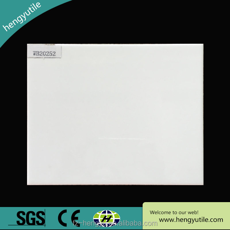 8'X10' waterproof superwhite shiny glazed ceramic wall tiles