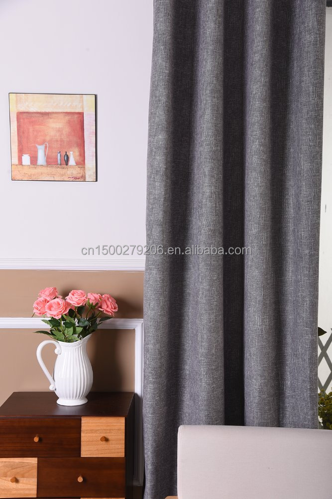 Window drapes fabric ready made customized curtain polyester blackout cheap curtains