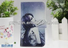Good quality flip case for lenovo a390 leather case,for lenovo a390 leather case