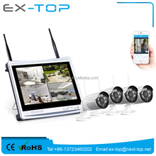 Plug And Play Built in Monitor 1080P 4CH NVR 960P Wifi IP Camera Wireless CCTV Kit