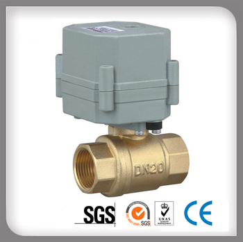 "3/4"" DN20 AC110V-230V Motorized Ball Valve, Brass Electric Ball Valve CR2-02 Wires, T20-B2-C"