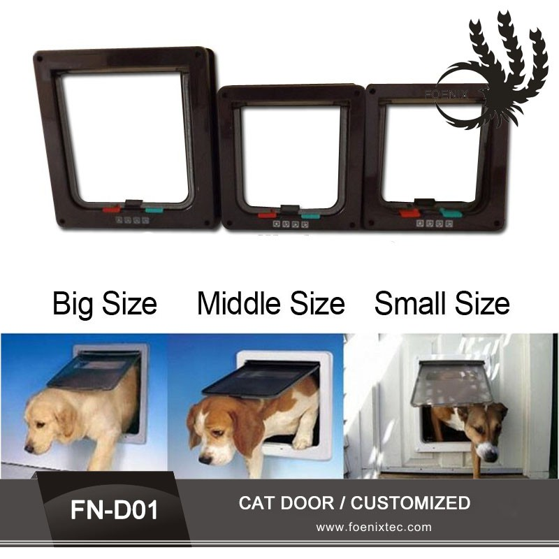 Customized Plastic Lockable Magnetic Pet Small Dog Flap Cat Door