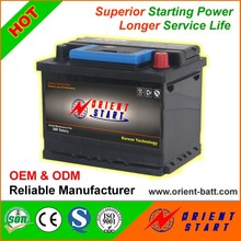 DIN60 German Standard Lead Acid 12V 60Ah Car Battery
