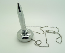 Magnetic floating stand pen with chain/Plastic Table CounterPen /Metal desk magnetic pen with stand and Chain