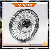 High performance steel motorcycle chrome wheels