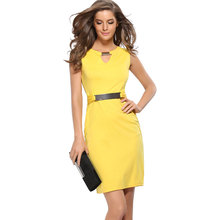 OEM New Female Fashion Slim Pencil Skirt Sleeveless Dress Large Size