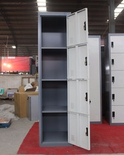 school use large capacity 4 door metal cabinet wardrobe locker for sale