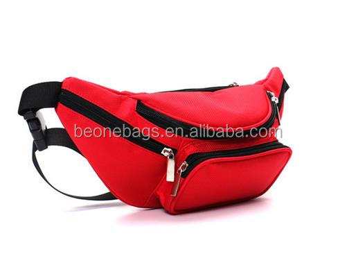 Popular fashion unisex cycling clming hip bag with zipper