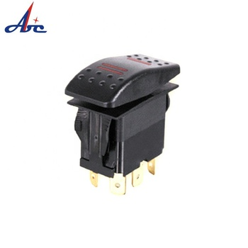 M12 (ON)-OFF-(ON) SPDT 5 terminal 20 AMP 12V BOAT 12v rocker switch