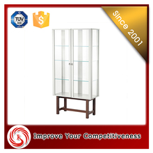 High end quality modern sliding glass door glass jewelry display showcase