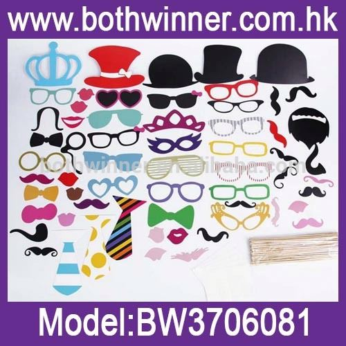 party photo props moustache ,MW087 fun favor wedding photo booth props
