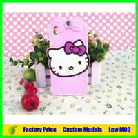 Popular custom hello kitty Silicone 3d phone case for HTC desire 816 cell phone case back cover