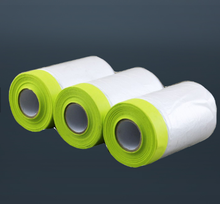 Anhui Tape Manufacturer HDPE pretaped auto paint masking film with crepe paper masking tape