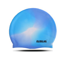 Popular Novelty printing sea and sky silicone swim cap (HS-324)