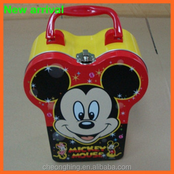 Mickey Mouse shaped tin box