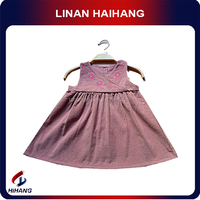 2014 hot sale OEM embroidered vest baby cotton frocks