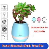 Smart sensor Touch Plant music play LED lamp flower pot garden