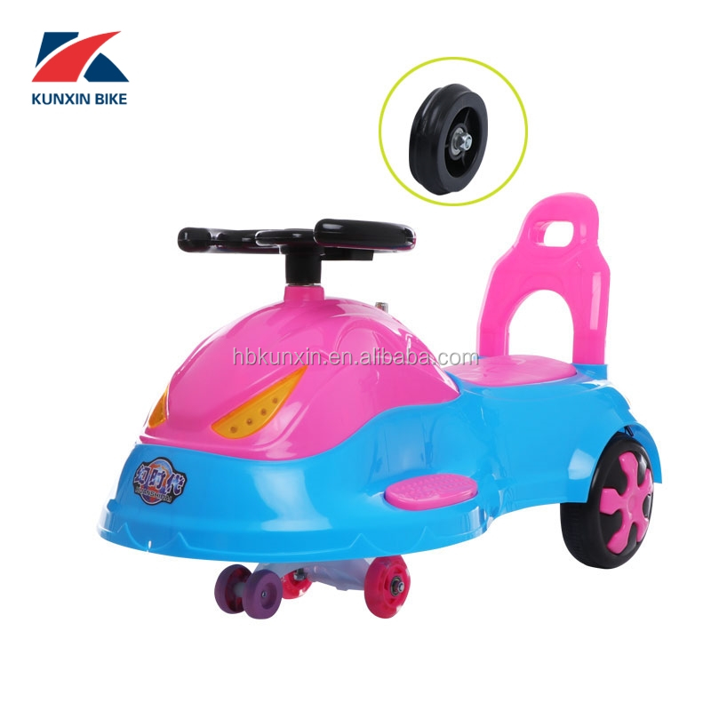 China ICTI Manufacturer Funny Swing Car for Kids baby ride on toy children seing car