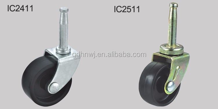 38mm long insert stem caster Crescent-shaped caster