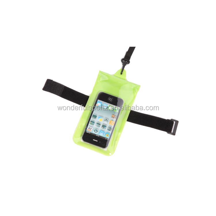 High Quality Mobile Phone Waterproof PVC Bag Case Underwater Pouch