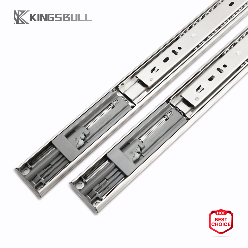 SUS 201/304 Stainless Steel Drawer Slide Channel with Soft Closing