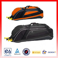 New Design wheeled sports trolley bag bat bag with heavy duty material and multipal compartments