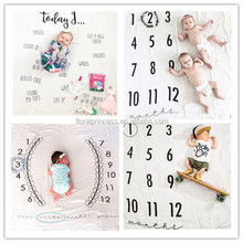 2017 newborn photography background props baby photo prop fabric backdrops infant blankets wrap 100% cotton soft blanket ins clo
