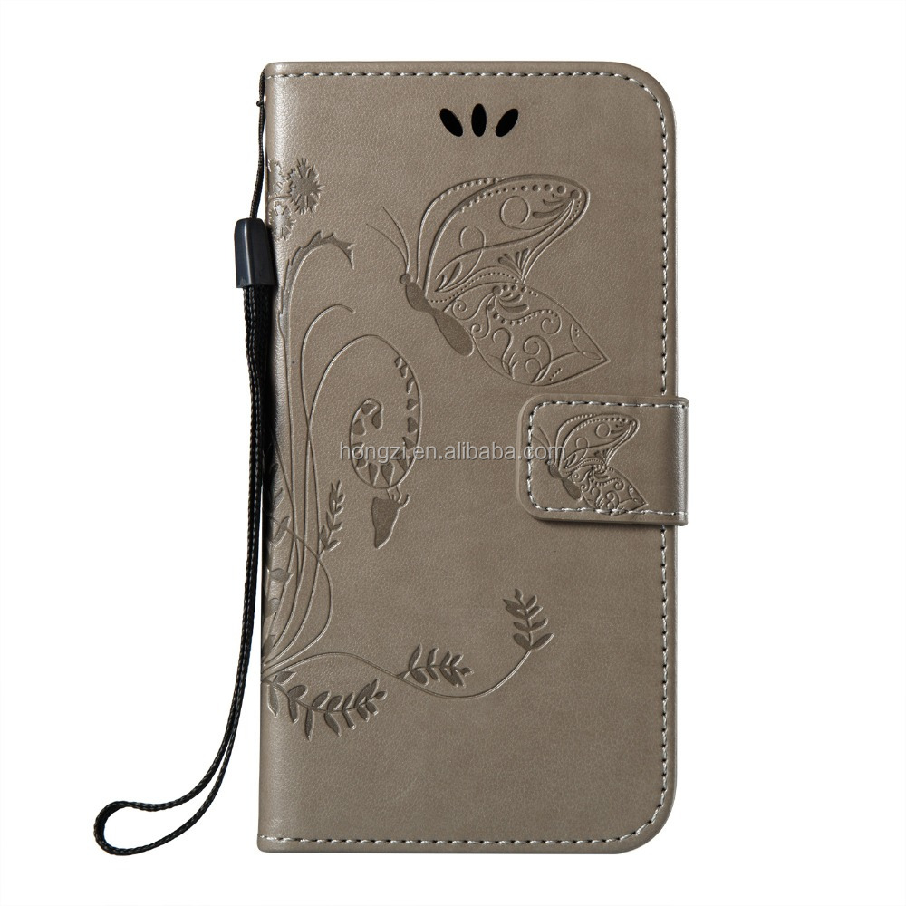 3D Embossing Flower Leather Wallet Case for iphone 8 76 5 4 6plus 7 plus Flip Stand Case cover New arrival