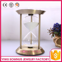 retro design brass frame sand hourglass 30minites sand timer for valentine's day D 15 * 22 cm B04920