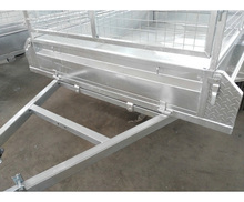 Aluminum box trailer with camper trailer tool box in Austalian standard and model no.: SS-W75
