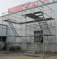 Hot Dip Galvanized Ringlock Scaffolding / Industrial Scaffolding for industrial services