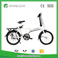 Folding electric bike with pedal or throttle bar