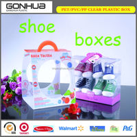 2014 Hot Seller High Quality Transparent Plastic Shoe Storage New Arrival Export Wholesale Custom Made Shoe Box For Nike