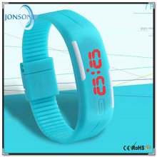 Promotional sales LED digital women men thin silicone sport wrist quartz watch