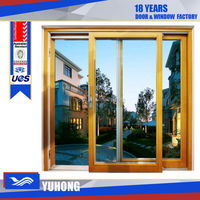 House aluminum sliding window with tempered glass