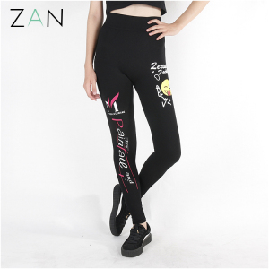 wholesale women leggings 2017 usa xxx sexy ladies leggings sex photo with emoji printed