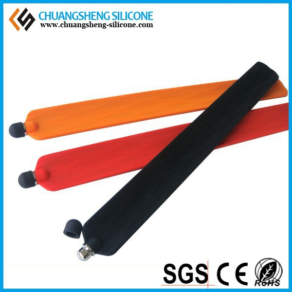 Silicone slap band with touch pen for digital phone