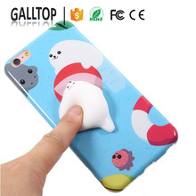 Hot Design Squishy Animal Toys Custom 3D Silicone Nail Finger Pinch Cat Phone Case for iPhone 6 7 Plus