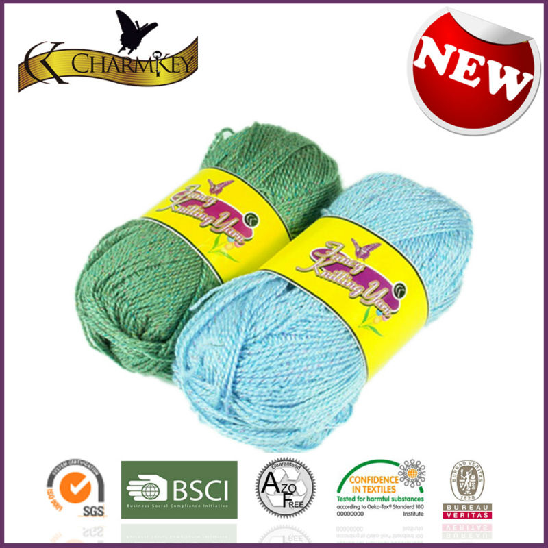 2014 New Style knitting Acrylic Metallic yarn Leading supplier