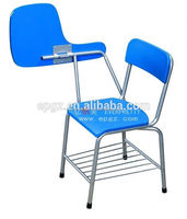 Cheap student chairs with small writing desk without arm